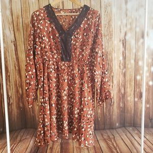NEW Boho Dress with Lace Shein Spring Cottagecore